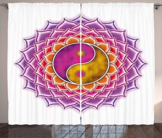 Blossom Ying and Yang Curtain