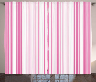 Vertically Striped Curtain