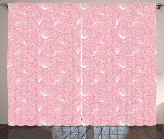 Ornate Floral Lines Curtain