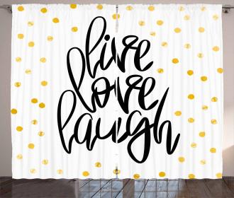 Phrase Dots Curtain