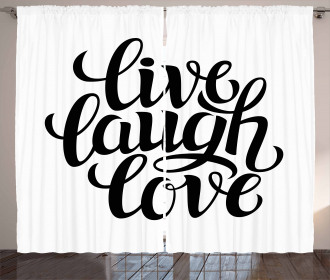 Inspiring Words Curtain