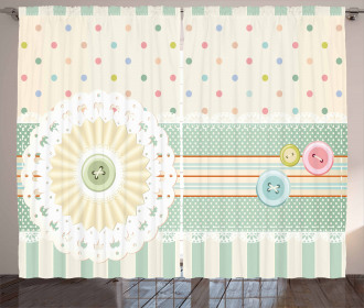 Sewing Theme Border Curtain