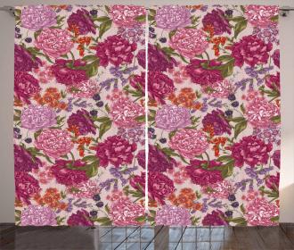Wild Flora Vintage Curtain