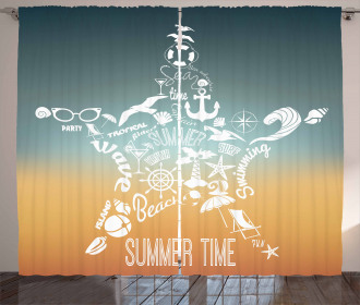 Summer Icons Curtain