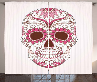 Mexican Ornaments Curtain