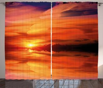 Dramatic Sunset Lake Curtain