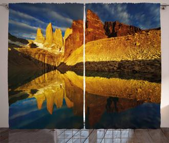 Lake Torres Del Paine Curtain