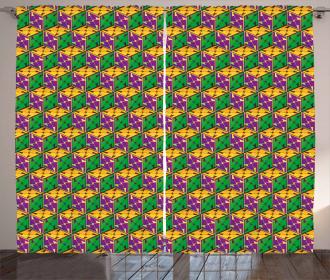 Geometric Cube Square Curtain