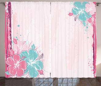 Bouquet of Hibiscus Art Curtain