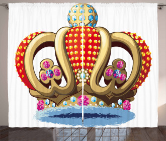 Royal Noble Family Crown Curtain