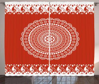 Paisley Side Border Curtain