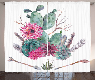 Exotic Bouquet Vintage Curtain