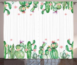 Tender Romantic Blossoms Curtain