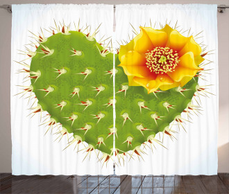 Thorny Opuntia Heart Curtain