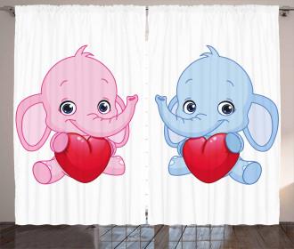 Hearts Twins Curtain