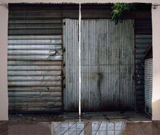 Zinc Door Old Curtain