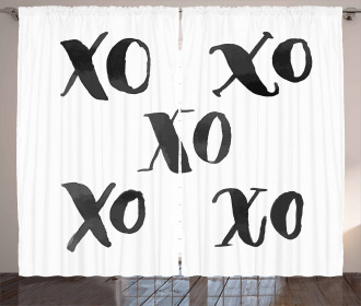 Classic Old Fashion Letters Curtain