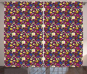 Stars Circles Squares Curtain