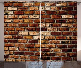 Old Grunge Brick Wall Curtain