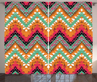 Zigzag Ethnic African Curtain