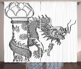 Chinese Sacred Creature Curtain