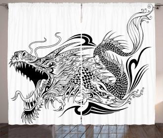 Asia Creature Ethnic Art Curtain