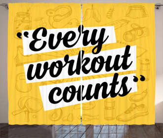 Every Workout Counts Curtain