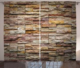 Urban Brick Slate Wall Curtain