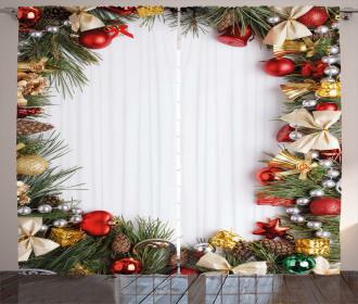 Dressed Xmas Tree Curtain
