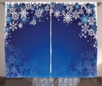Various Snowflakes Curtain