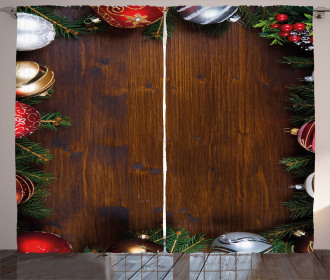 Rustic Home Baubles Curtain