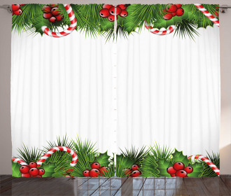 Holly Sprigs Candies Curtain