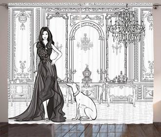 Sexy Fashion Woman Curtain