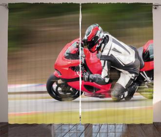Motorbike Race Speed Curtain