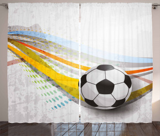 Football Soccer Lines Curtain