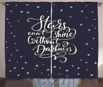 Night Sky Quote Curtain