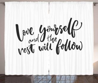 Self Love Wisdom Words Curtain