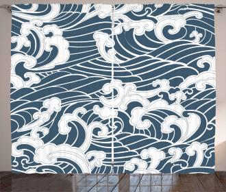 River Storm Retro Curtain
