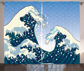 Ocean Wind Art Curtain