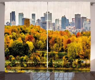 Montreal in Autumn Season Curtain