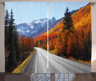Highway Countryside Travel Curtain