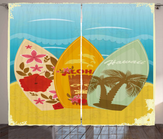 Surfboard Exotic Curtain