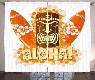 Hibiscus Flora Curtain