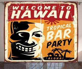 Tropic Bar Party Curtain