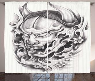 Malevolent Face Curtain