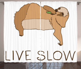 Happy Character Live Slow Curtain