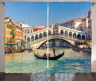 Sunny Day in City Travel Curtain