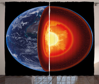 Hot Burning Earth Core Curtain