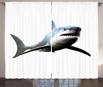 Wild Sea Creature Art Curtain