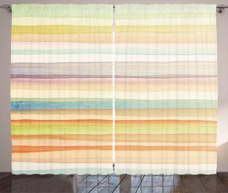 Stripes Watercolor Art Curtain